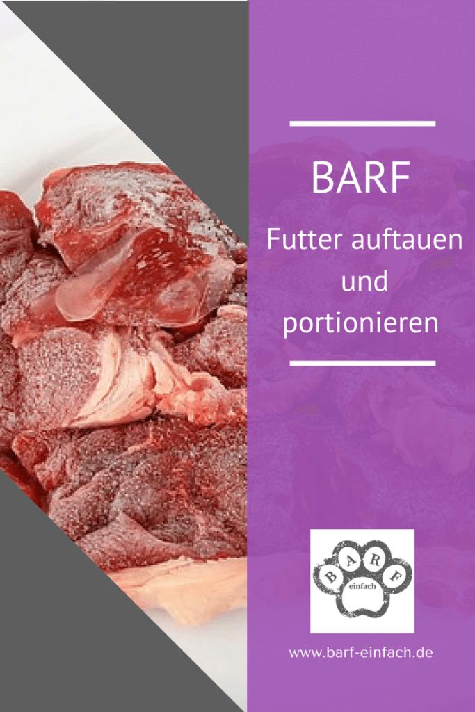 Barf, gefrorenes Fleisch