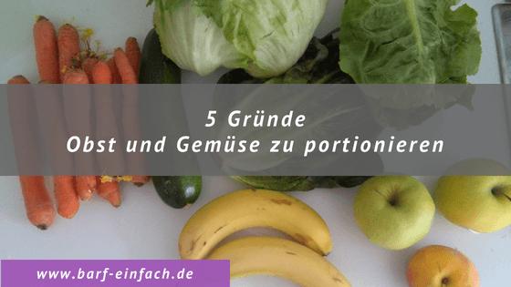 5 Gründe Obst und Gemüse zu portionieren