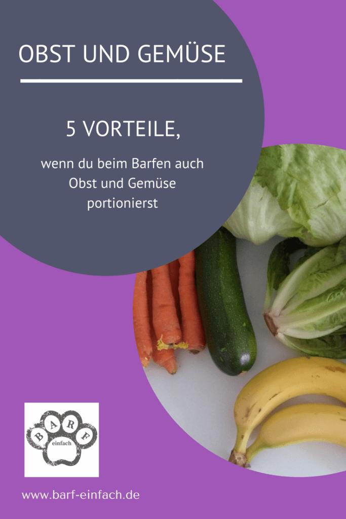 5 Gründe Obst und Gemüse beim Barfen zu portionieren