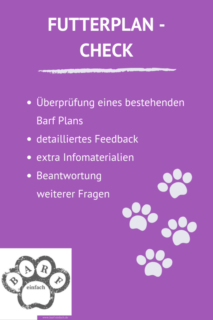 Futterplan Check Angebotsdetails